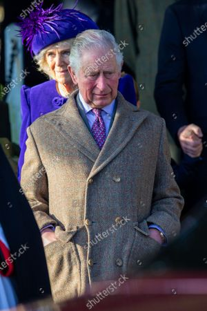 Prince Charles at the Christmas Day morning church service at St Mary Magdalene Church