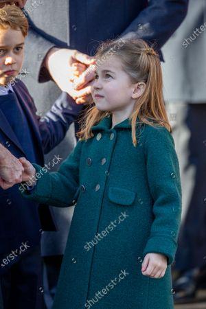 Princess Charlotte at the Christmas Day morning church service at St Mary Magdalene Church