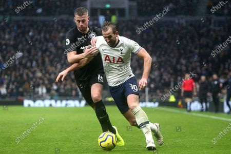 Harry Kane of Tottenham Hotspur and Adam Webster of Brighton and Hove Albion during Tottenham Hotspur vs Brighton & Hove Albion, Premier League Football at Tottenham Hotspur Stadium on 26th December 2019