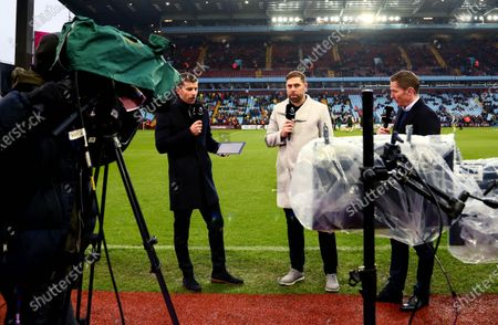 Amazon Prime pundits Adam Hunt, Grant Holt and Matt Holland are seen pitchside.