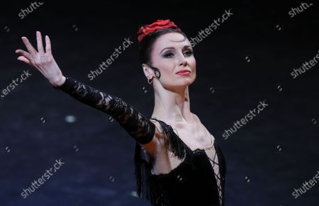 Stock Image of Ballet dancer Svetlana Zakharova performs during the Carmen Suite one-act ballet of the New Year gala event at the Bolshoi Theater in Moscow, Russia, 26 December 2019.