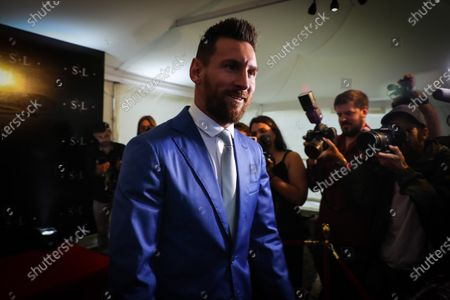 Barcelona soccer player Lionel Messi attends the vows renewal ceremony of the Uruguayan Luis Suarez and his wife Sofia Balbi, in Montevideo, Uruguay, 26 December 2019.