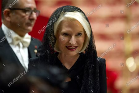 United States Ambassor to the Holy See Callista Gingrich during the celebration of the Christmas Mass