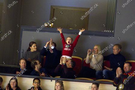 Editorial photo of Swedish royals at Brynas v Oskarshammn ice hockey game, Stockholm, Sweden - 26 Dec 2019