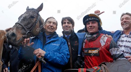 POTTERS CORNER (Jack Tudor) with trainer Christian Williams after The Coral Welsh Grand National Chepstow