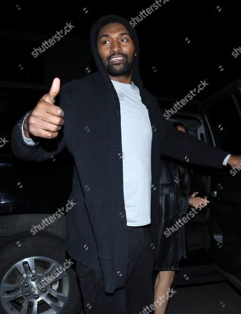 Editorial photo of Ron Artest out and about, Los Angeles, USA - 26 Dec 2019