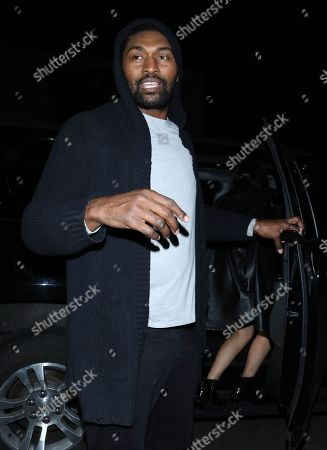 Editorial image of Ron Artest out and about, Los Angeles, USA - 26 Dec 2019