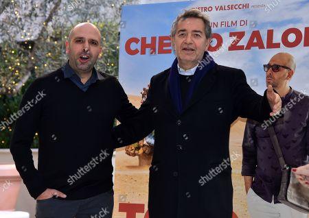 Stock Picture of Checco Zalone and Pietro Valsecchi