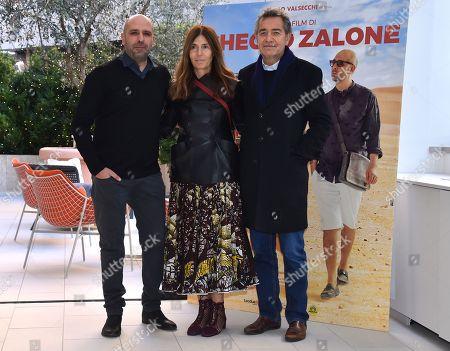 Checco Zalone, Camilla Nesbit and Pietro Valsecchi