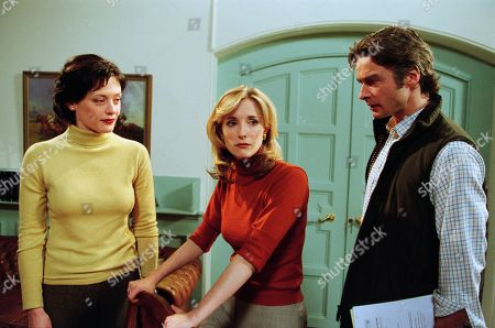 Ep 3082 Wednesday 2nd January 2002 Andrew continues to bait Tara about Sean losing interest in her. The remarks hit home and decides to move her horses out of the Stud Farm and leave Emmerdale as soon as possible, leaving Andrew to wonder if he hasn't shot himself in the foot. With Carmel Bryne, as played by Bridget Duffy; Lady Tara Thornfield, as played by Anna Brecon ; Andrew Fraser, as played by Mark Elstob.