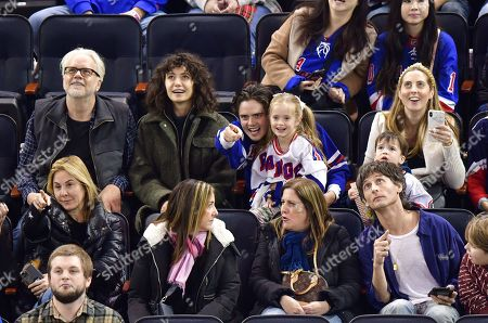 Editorial image of Celebrities attend Carolina Hurricanes v New York Rangers, NHL Ice Hockey game, Madison Square Garden, New York, USA - 27 Dec 2019