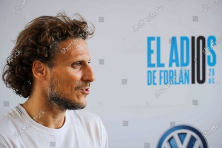 Uruguayan former soccer player Diego Forlan talks to Agencia Efe during an interview held in Montevideo, Uruguay, 27 December 2019 (issued on 28 December2019). The former player of Atletico Madrid and Villarreal reported on his retirement and presented a tribute match running later today in Montevideo.