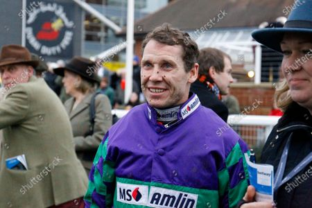 Richard Johnson after winning the Betway Challow Hurdle on Thyme Hill to complete a Newbury treble.