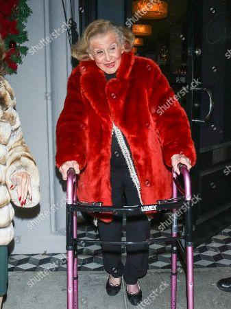 Barbara Davis outside Craig's Restaurant in West Hollywood