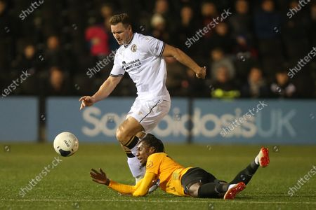Dave Winfield of Bromley and Alexander McQueen of Dagenham and Redbridge during Bromley vs Dagenham & Redbridge, Vanarama National League Football at The Westminster Waste Stadium on 28th December 2019