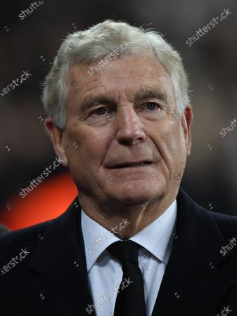 Former English footballer Trevor Brooking watches the English Premier league soccer match between West Ham United and Leicester City held at the London stadium in London, Britain, 28 December 2019.