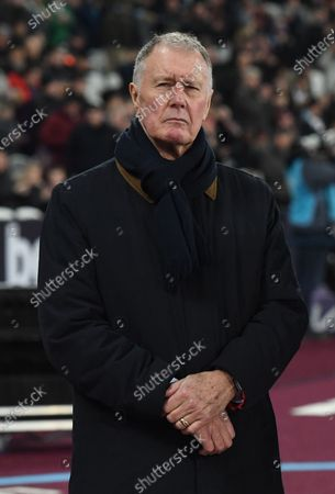 Former England footballer Sir Geoff Hurst ahead of the English Premier league soccer match between West Ham United and Leicester City held at the London stadium in London, Britain, 28 December 2019.