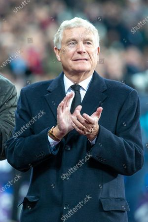 Sir Trevor Brooking clapping before kick off
