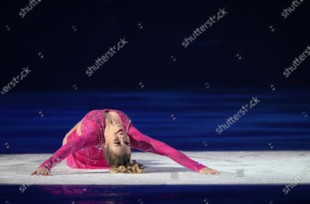 US figure skater Ashley Wagner performs during the show 'Revolution on Ice' at the Vistalegre Palace in Madrid, Spain, 28 December 2019, running from 28 December until 29 December in Madrid.