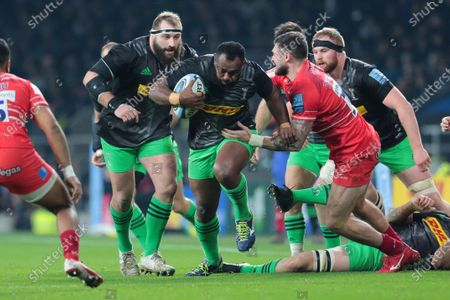 Editorial photo of Harlequins v Leicester Tigers, Gallagher Premiership, Rugby Union, Twickenham, London, UK - 28 Dec 2019