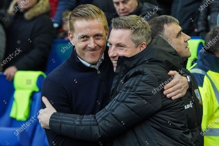 29th December 2019, Hillsborough, Sheffield, England; Sky Bet Championship, Sheffield Wednesday v Cardiff City : Sheffield Manager Gary monk shares a moment with Cardiff manager Neil Harris 