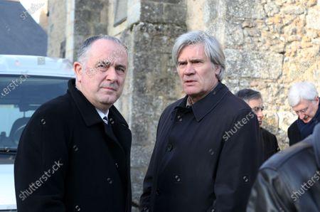 Editorial photo of Funeral of Claude Cochonneau, Marcon, France - 28 Dec 2019