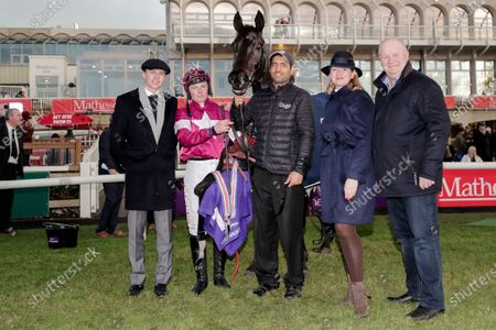 The O`Driscoll O`Neil Insurance Brokers Flat Race. Tom Hamilton with Eric Bloodaxe and the winning connections