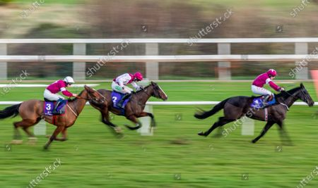 Tom Hamilton on Eric Bloodaxe leads the field to win The O`Driscoll O`Neil Insurance Brokers Flat Race