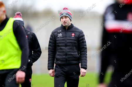 Monaghan vs Derry. Derry manager Rory Gallagher