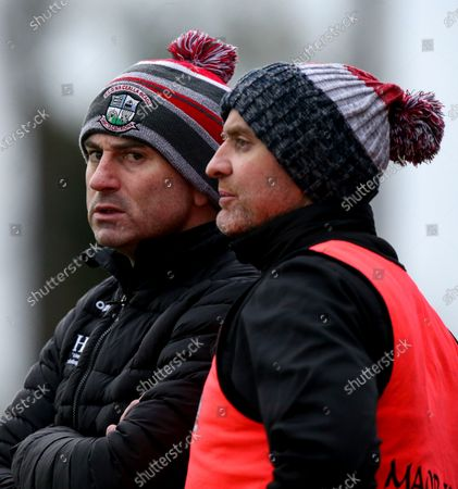 Stock Image of Monaghan vs Derry. Derry manager Rory Gallagher