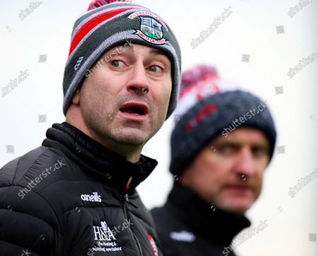 Stock Photo of Monaghan vs Derry. Derry manager Rory Gallagher