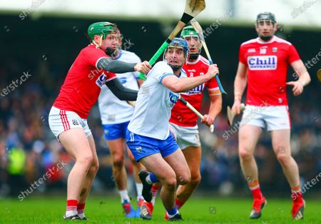 Waterford vs Cork. Waterford's Patrick Curran in action against Cork's Ryan Walsh