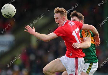 Kerry vs Cork. Cork's Damien Gore and Dan McCarthy of Kerry
