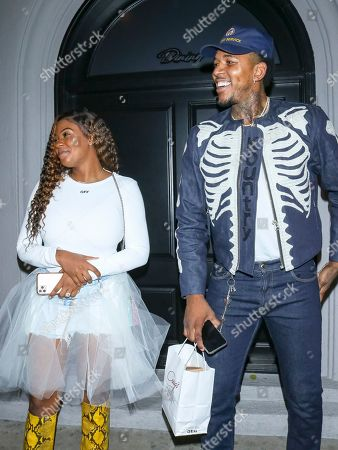 Keonna Green and Nick Young at Craig's Restaurant in West Holywood