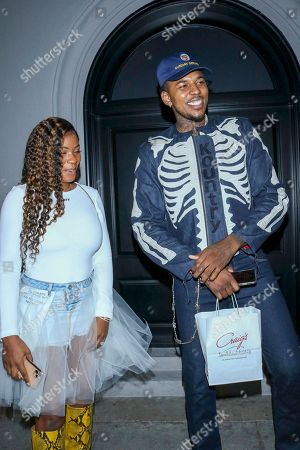 Stock Photo of Keonna Green and Nick Young at Craig's Restaurant in West Holywood