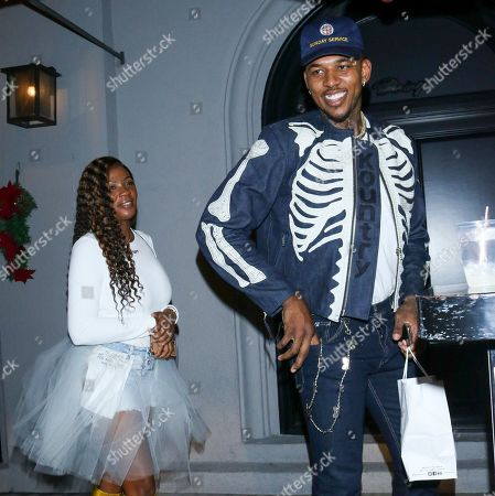 Stock Image of Keonna Green and Nick Young at Craig's Restaurant in West Holywood