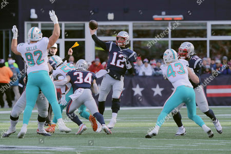 Editorial picture of Dolphins Patriots Football, Foxborough, USA - 29 Dec 2019