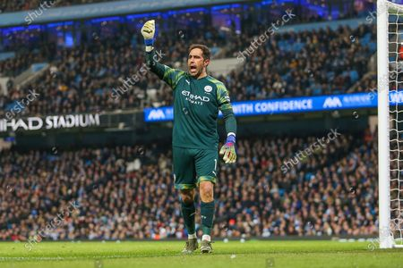Claudio Bravo of Manchester City during the Premier League match between Manchester City and Sheffield United at the Etihad Stadium, Manchester