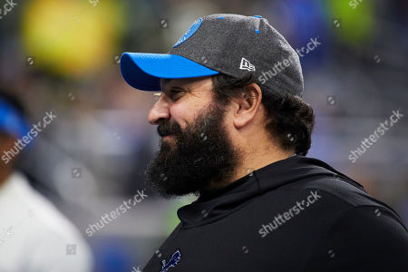 Detroit Lions head coach Matt Patricia during warm ups against the Green Bay Packers prior to an NFL football game at Ford Field in Detroit