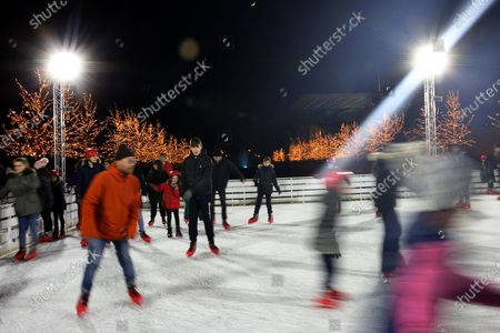 Editorial photo of Ice skating in Athens, Greece - 29 Dec 2019