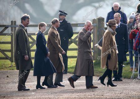 Sir Tim Laurence, Lady Louise Windsor, Prince Edward, Prince Charles and Princess Anne