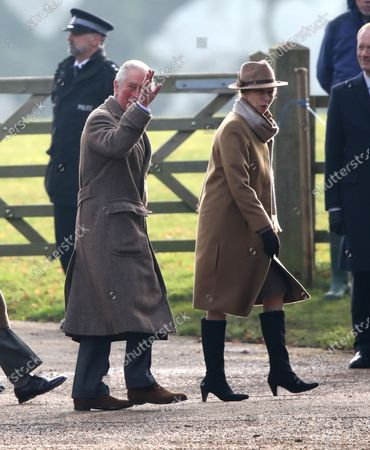 Stock Photo of Prince Charles and Princess Anne
