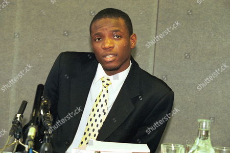 Duwayne Brooks At The Press Conference Stephen Lawrence Inquiry. Witness To The Stephen Lawrance Murder Six Years Ago - 1999