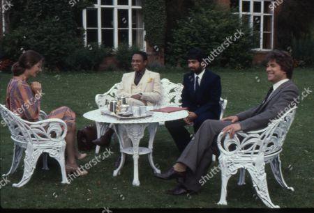 Barbara Kellerman as Laurie Morton, Norman Beaton as Mr. Ngenko, Tariq Yunus as Charles Austin and Gary Bond as Terence Morton