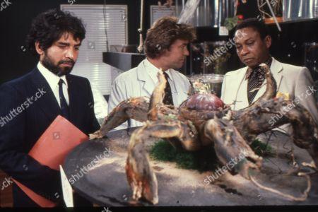 Tariq Yunus as Charles Austin, Norman Beaton as Mr. Ngenko and Gary Bond as Terence Morton