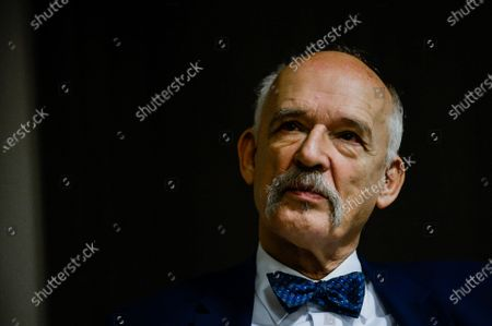 Polish lawmaker and runner for the far right Confederation Liberty and Independence (Konfederacja) political Party for Presidential Primaries, Janusz Korwin-Mikke during the meeting ahead of the party primaries to elect a candidate for the May 2020 Presidential elections.