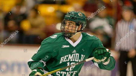 Bemidji State's Brad Johnson skates during an NCAA hockey game on in Minneapolis