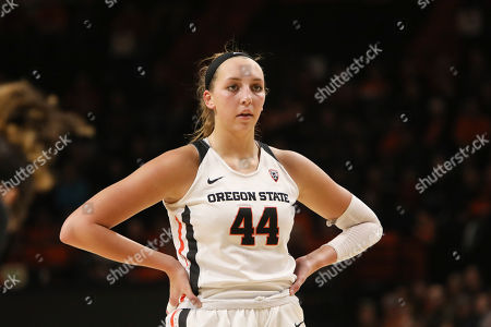 Oregon State's Taylor Jones (44) prepares to take a free throw during the second half of an NCAA college basketball game against Cal State Bakersfield in Corvallis, Ore., . Oregon State won 69-50