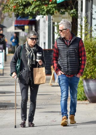 Editorial image of Selma Blair and David Lyons out and about, Los Angeles, USA - 30 Dec 2019