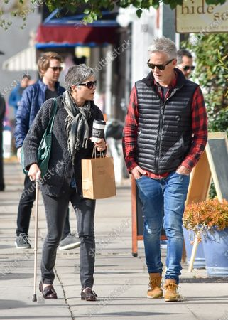 Editorial photo of Selma Blair and David Lyons out and about, Los Angeles, USA - 30 Dec 2019